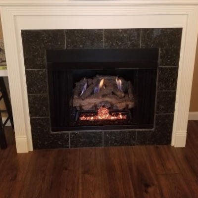 Fireplace installation in Indianapolis, Indiana