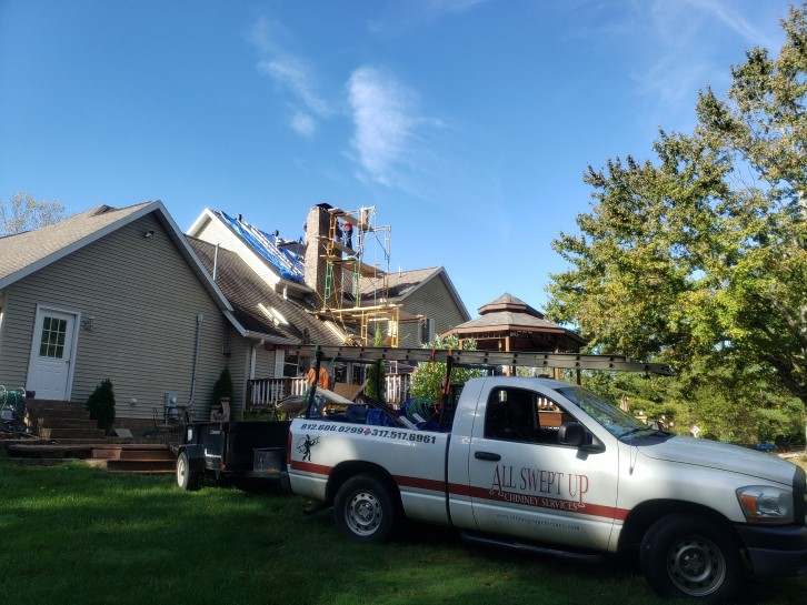 Another chimney rebuild near Indianapolis, Indiana