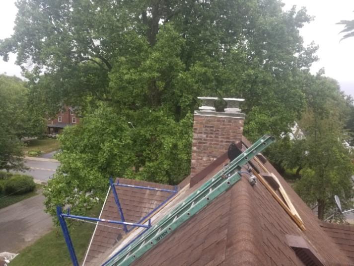 Completed chimney repair